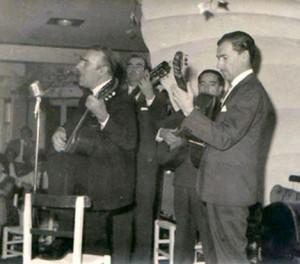 Edmundo Rivero, Adolfo Carné, Ruben Morán e Ismael Russo en radio San Martín Bahia Blanca