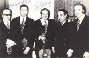 Rubén Morán, Rafael del Pino, Roberto Grela, Anibal Arias y Davis  El Viejo Almacén 12-07-1973